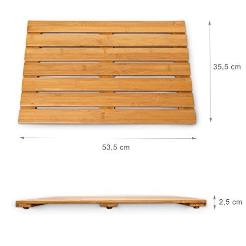 Relaxdays Badvorleger aus Bambus