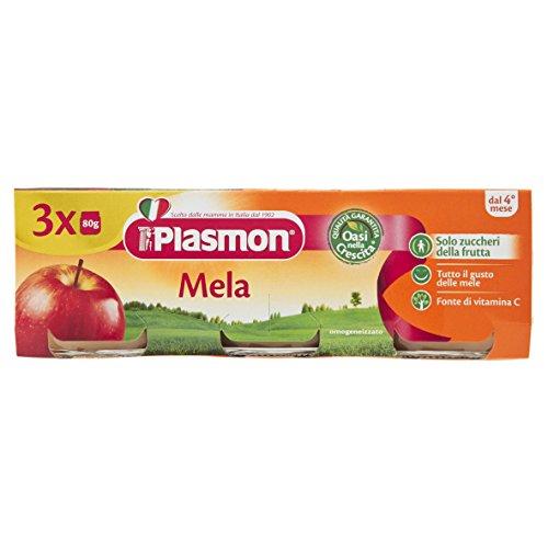 Plasmon Omogeneizzato di Frutta, Mela - 24 Vasetti da 80 gr