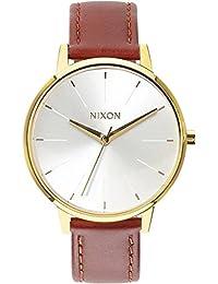Nixon Damen-Armbanduhr Kensington Analog Quarz Leder A1081425-00
