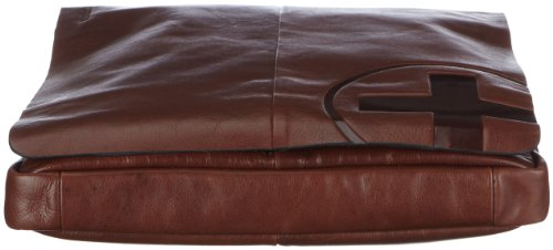 Strellson Jones Messenger MQ 4010000118 Herren Messengertaschen 30x31x5 cm (B x H x T), Schwarz (black 900) Braun (dark brown 702)