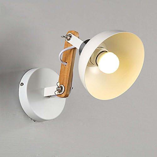 Hongteng Lighting Lampada da Vintage Parete in Stile Rustico Vintage da Americano per Sala Ristorante Lampada da Comodino a LED in Camera da Letto in Legno massello, Bianca a5b40c