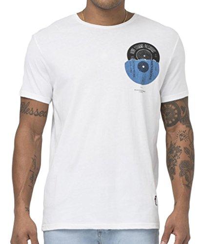 "RELIGION Clothing Herren T-Shirt Shirt ""NOIR STUDIO RECORDS"" Weiß"