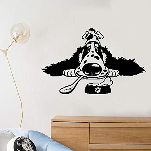 Cartoon Spaniel Breed Hundefutter PVC Home Art Aufkleber PVC Wandaufkleber 60CM * 38.1CM (Hundefutter Aufkleber)