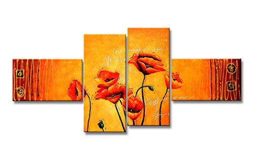 Cuadros en Lienzo 160 cm (flores Nr. 6520) Listos para colgar, de la marca Visario