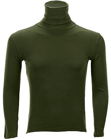 U-shot Men's Turtle Neck Long Sleeve Casual Top Slim Fit T-shirt