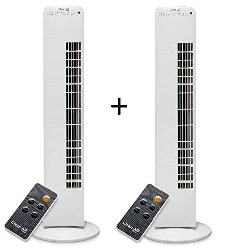 2x Luxus Turmventilator mit Ionisator CA-405