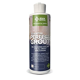 Essential Perfect Grout 237ml Colour Sealer (Limestone) Restore & Renew Old Kitchen, Bath, Wall & Floor Grout. Superior Alternative to Grout Pen or Paint. Long-Term Sealing Protection - Stonecare4u