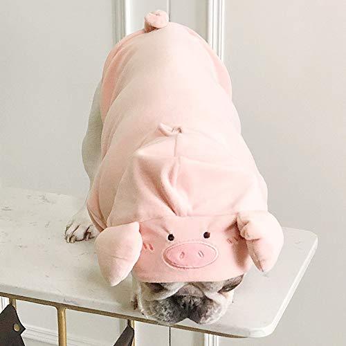Kostüm Schwein Rosa Hunde - QZHYGE Niedliche Schwein-Kostüm-Haustier-Hundekleidung für Hundehaustier-Kleidung Yorkshire-Mops-französische Bulldoggen-Kapuzenpullis L Rosa