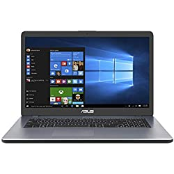 "Asus VivoBook R R702UA-BX782T PC Portable 17"" HD (Intel Pentium Gold 4417U, RAM 8Go, HDD1 1TB 54R + 128Go SSD, Windows 10) Clavier AZERTY Français"
