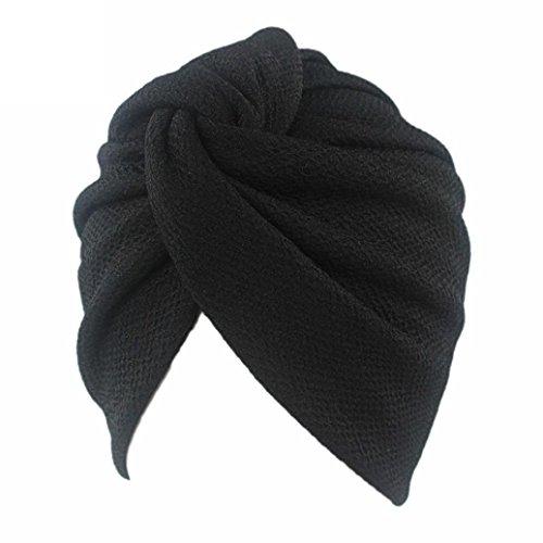 HKFV Vintage Style gefaltet Turban ideal für Kostüme Mode Chemo Hut Beanie Schal Turban Kopf Wrap Cap (Mode Kostüme Jahre 40)