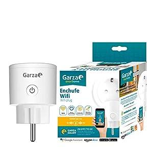 Garza ® Smarthome – Enchufe wifi inteligente programable compatible con Alexa y Google Home. Enchufe programador temporizador de domótica