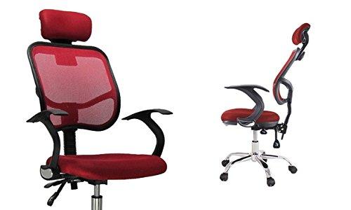 Sedia da ufficio con ruote.(5 colori) (rosso)