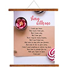 YaYa cafe Valentine Greeting Card Love Romantic for Girlfriend Wife Boyfriend Husband Stay with Me Forever Love Scroll Gift - 15 x 20 inches
