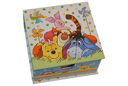 WÜRFEL - Notiz Block Winnie the Pooh in der Box Notizzettelbox Notizblock Notizzettel - Kinder Schreibtisch Notizen - Notizblöcke Schule