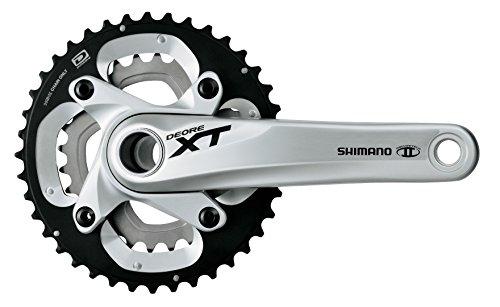 Shimano XT 10V 38/26 Bielas, Plata, 175 mm