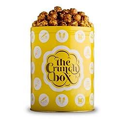 The Crunch Box Warm Caramel Crunch Popcorn Tin - 410 Gms
