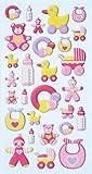 Creapop Sticker Softysticker * Baby Girl * Geburt - Taufe * Aufkleber