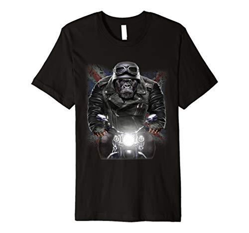 United Kingdom Patriot Gorilla Ride Motorrad Biker T-Shirt (Damen-shirt Fox)