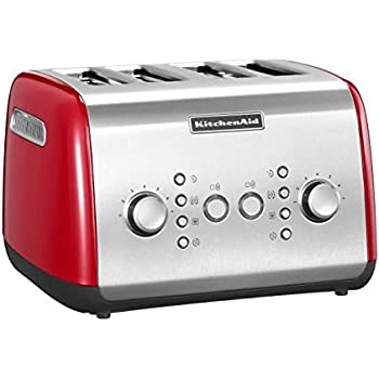 Kitchenaid 5KMT421EER Toaster für 4 Scheiben, rot