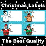 100 CHRISTMAS LABELS / STICKERS 4 TYPES SELF ADHESIVE LABELS TOP QUALITY PRINTED LABELS