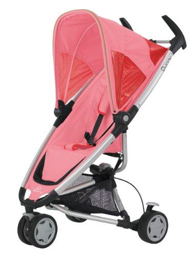 Quinny 65605530 Zapp Travelsystem inklusive Einkaufskorb, Sonnenverdeck, Regenverdeck, Sonnenschirmclip und Adapter für die Babyschale, pink blush