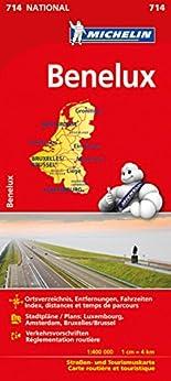 Michelin Benelux: Straßen- und Tourismuskarte (Michelin Nationalkarte) hier kaufen
