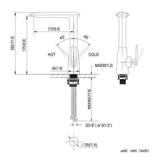 Homelody – Seltene Design-Küchenarmatur, 360° drehbar, Chrom - 6