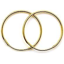 Arranview Jewellery, Aros Planos de Oro de 9K, 12mm, 1 Par.