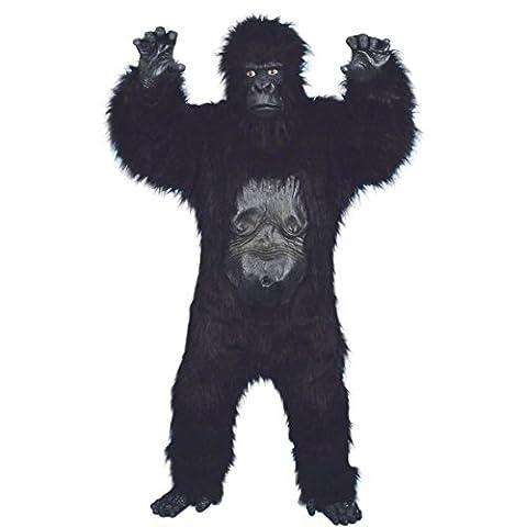 Deluxe Gorilla Kostüm Affenkostüm Schwarz Gorillakostüm Affe King Kong Tierkostüm Affen Kostüm Kink Kong (Deluxe Gorilla-kostüm)