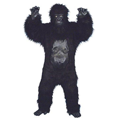 Kostüm Kong King - NET TOYS Deluxe Gorilla Kostüm Affenkostüm Schwarz Gorillakostüm Affe King Kong Tierkostüm Affen Kostüm Kink Kong Overall