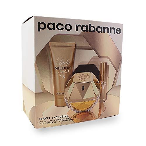 Paco Rabanne Lady Million Edp Vapo 80 ml + Bl75 + Ts10 150 g