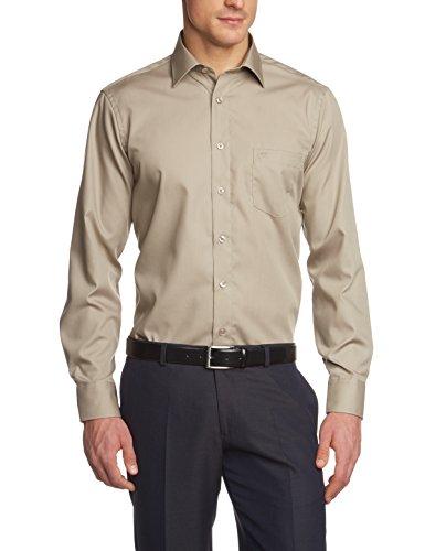 CASAMODA Herren Comfort Fit Business Hemd, Gr. Kragenweite: 45 cm, Beige (beige 600)
