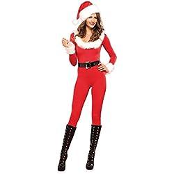 Leg Avenue 85357 - Trajes de trabajo para disfraz de Santa Baby, Mujer, M (Eu 38), Rojo/Blanco