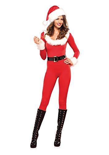 Leg Avenue 85357 Santa Baby Catsuit - Größe Large EUR 40, Medium EUR 38, rot/weiß