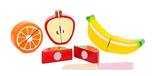 small foot 10892 Obst-Set aus Holz für Kinder, Kinderküche und Kaufmannsladen-Zubehör Spielzeug