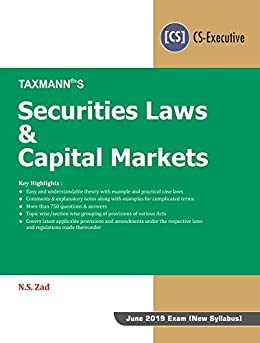 Descargar PDF Gratis Securities Laws & Capital Markets (June 2019 Exam-New Syllabus)(January 2019 Edition)