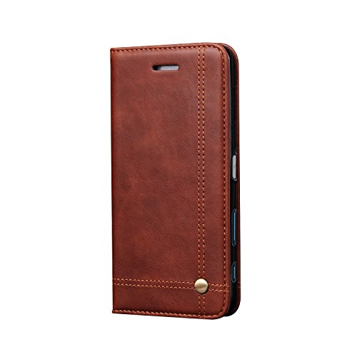Deer Magnetic Auto Lock Flip Cover For Sony Xperia Xzs - Brown