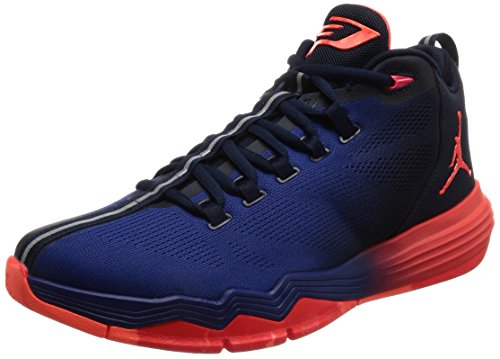 Nike  Jordan Cp3.ix Ae, espadrilles de basket-ball homme Noir (Obsidian / infrarouge 23 Deep Blue Royal)