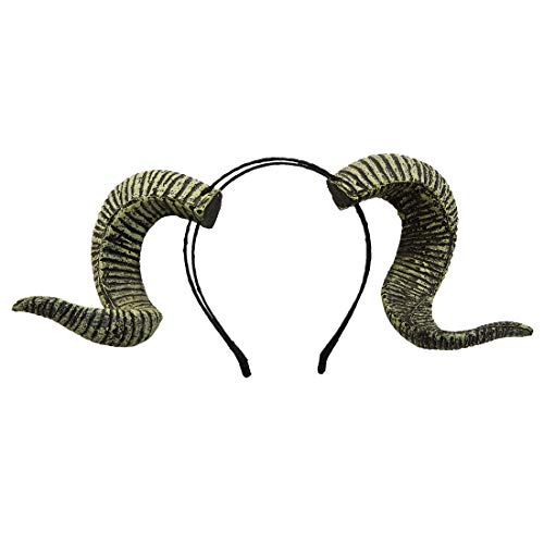 dream cosplay Gothic Ram Horns Stirnband Halloween Kostüm Haarschmuck