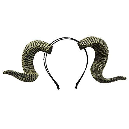 dream cosplay Gothic Ram Horns Stirnband Halloween Kostüm - Ziege Hörner Kostüm