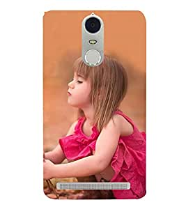 Fabcase Cute Babie with Pink Dress Designer Back Case Cover for Lenovo K5 Note