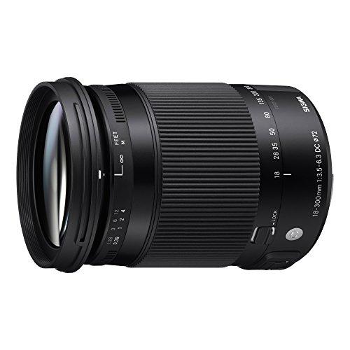 Sigma DC Makro OS HSM 18-300mm F3,5-6,3 Objektiv (72mm Filtergewinde) für Nikon Objektivbajonett schwarz