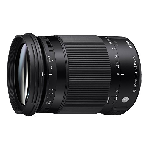 Sigma 18-300mm F3,5-6,3 DC Macro OS HSM Contemporary Objektiv (72mm Filtergewinde) für Nikon Objektivbajonett