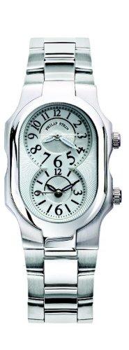 Philip Stein - 1-NFW-SS - Montre Femme - Quartz Analogique - Cadran Blanc - Bracelet Acier Argent