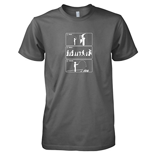 TEXLAB - A Proper Ring Disposal Guide - Herren T-Shirt Grau
