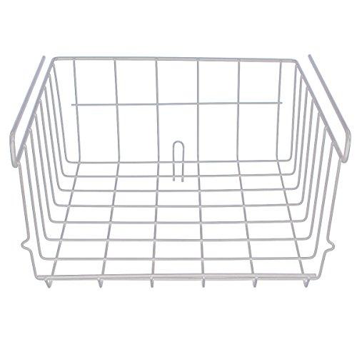 Fanshop 30*29.5*12.5cm Gitter Draht unter Schrank Regal Korb Hängeregal Organizer Rack (weiß) (Schrank Korb)