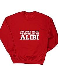 Hippowarehouse I'M Just Here To Establish An Alibi Kids Children's Unisex Jumper Sweatshirt Pullover
