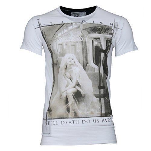 RELIGION Herren T-Shirt TILL DEATH DO US PART-Blau-XL