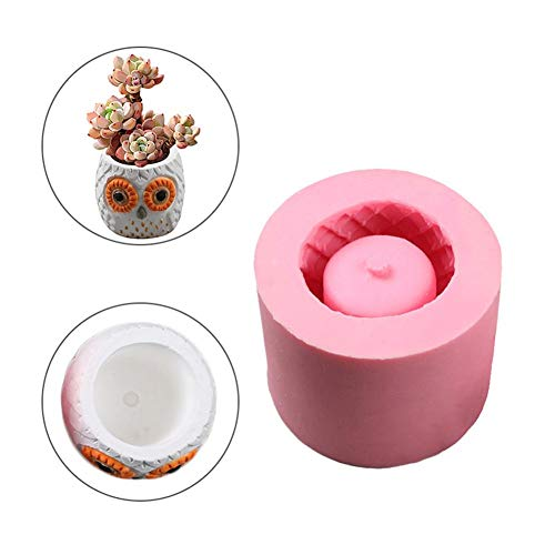Clay Molds - 2019 3d Vase Mold Silica Gel Diy Animals Flower Pots Owl Shaped Concrete Pot Molds Mould Cement - Bowl Skull Clay Angel Ceramics Paper Animals Face Flowers Cutters Leaves Fairy Lett