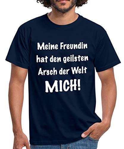 Spreadshirt Geilster Arsch der Welt Männer T-Shirt, XL, Navy